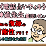 電話占いウィル|神道先生の口コミ「復縁出来る?」鑑定内容公開